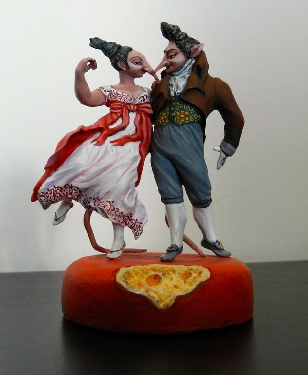 """Скульптура """"Галантные крысы"""" 54мм"""
