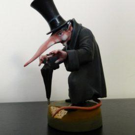 "Скульптура ""Крыс на прогулке"" 90 мм"