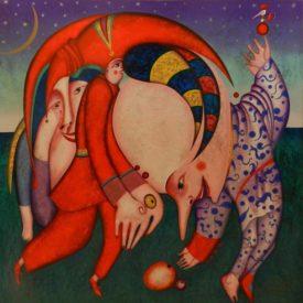 """Сериография """"Танец с фруктами"""" canvas gold"""