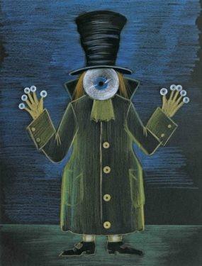 D711 Жикле Эскиз костюма и маски «Песочный человек»
