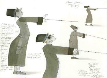 D717 Жикле Эскиз костюмов слепцов