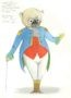 D731 Жикле Эскиз костюма механической куклы «Молс»