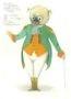 D732 Жикле Эскиз костюма механической куклы «Молс»