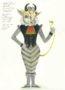 D737 Жикле Эскиз костюма и маски механической куклы «Золотой Бычок»