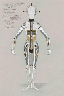 D743 Жикле Эскиз костюма манекена (механическая кукла, неоконченная работа Коппелиуса) (вид сзади)