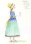 D755 Жикле Эскиз костюма деревенской девочки