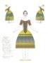 D757 Жикле Эскиз костюма и грима куклы