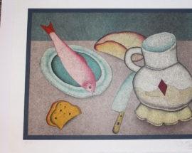 Литография «Потроха» (Натюрморт), Rice paper