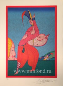 Lithography   Carnival at St.Petersburg (1)