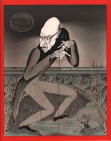 Lithography   Portrait of I.Stravinsky