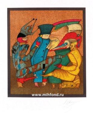 5 лист папки 5 литографий Карнавалы Санкт-Петербурга