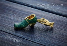 Кулон-подвес «Счастливый башмак» золото