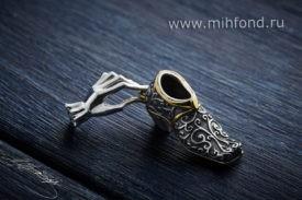 Кулон-подвес «Счастливый башмак» серебро