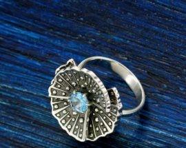 Кольцо «Снежинка» (золото)