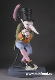 Крыс с сосиской. Скульптура М.Шемякина