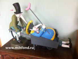 Крыс-пьяница с помощником. Скульптурная композиция М.Шемякина