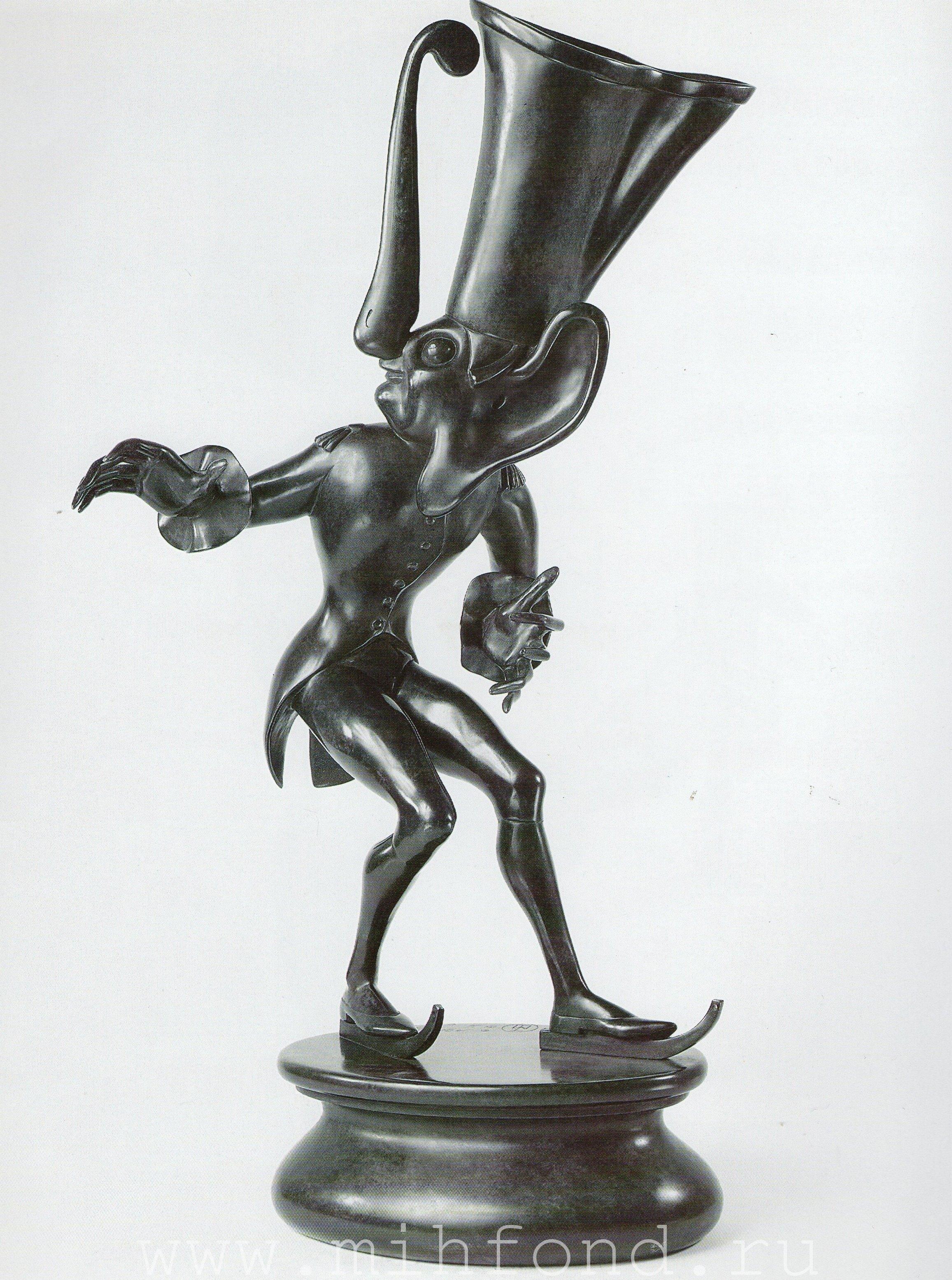 Бронзовая скульптура 'Карнавал Санкт-петербурга 06' Автор М.Шемякин