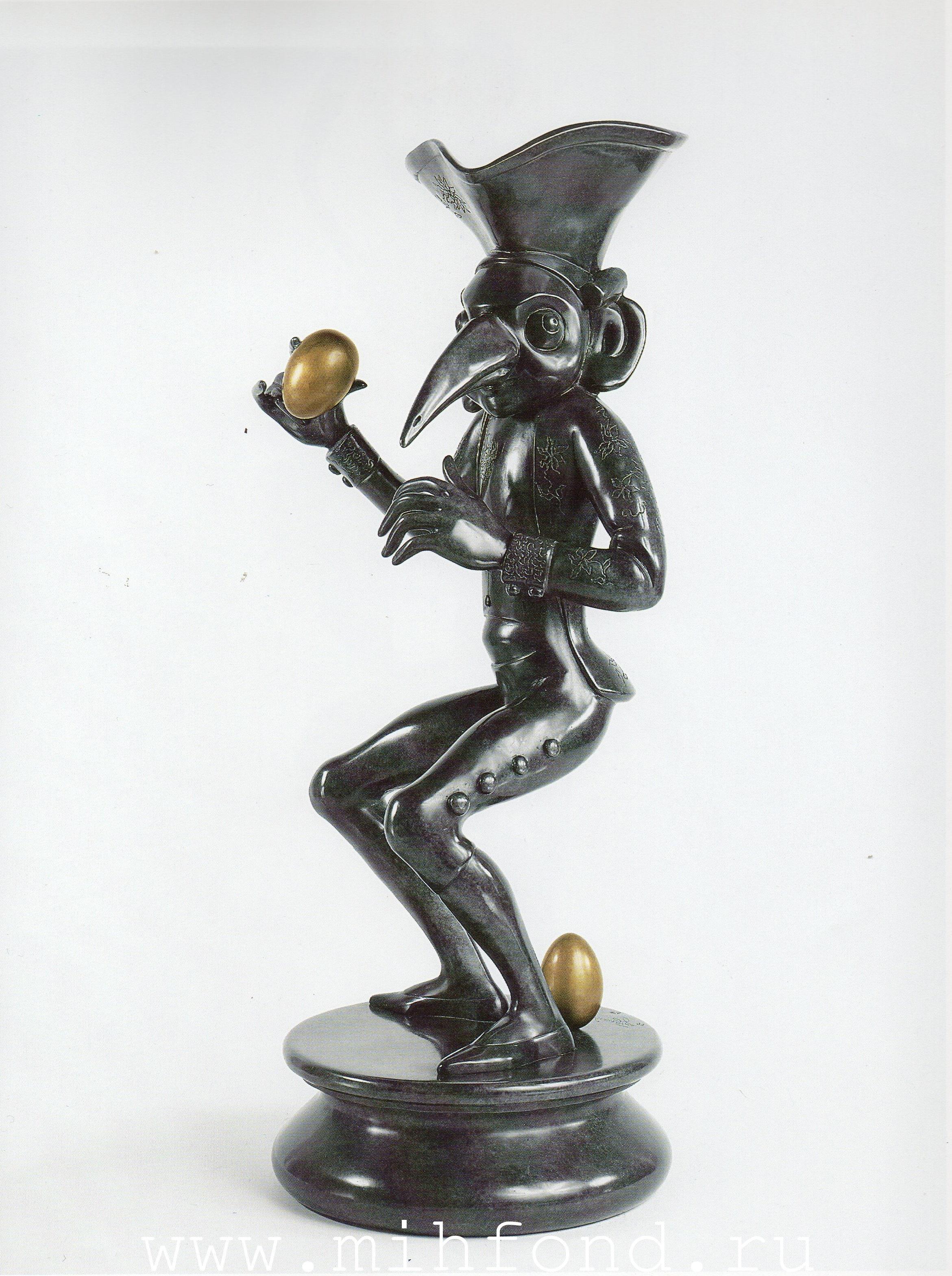 Бронзовая скульптура 'Карнавал Санкт-петербурга 11' Автор М.Шемякин