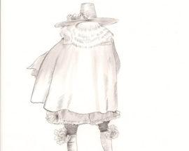 Эскиз к балету «Щелкунчик» «Гости на Ёлке в доме советника Штальбаума» z01
