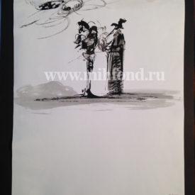 М.Шемякин. Рисунок в стиле Дзен 5593