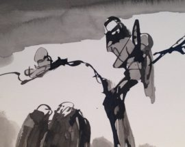 Рисунок в стиле Дзен «Ангел смерти в раздумьи» #5582