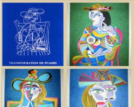 Комплект литографий «Карнавалы Санкт-Петербурга» 5 листов (Rice paper)