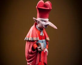 Скульптура «Офицер-крыс с саблей» 90 мм