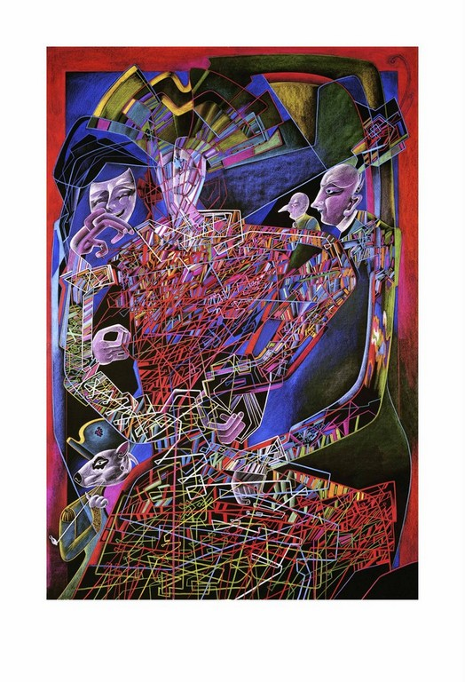 """Жикле """"Проволочный манекен"""" (2396) серия """"Метафизический бюст"""""""
