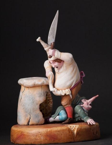 "Скульптура ""Повар и крысёнок-воришка"" 90 мм"