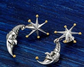 Серьги «Месяц и звезды»