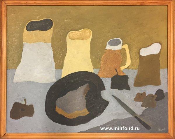 Натюрморт с хлебом и плодами