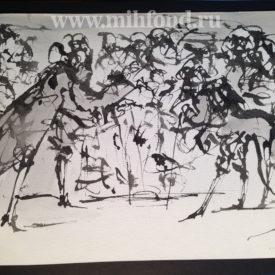 М.Шемякин. Рисунок в стиле Дзен 5557