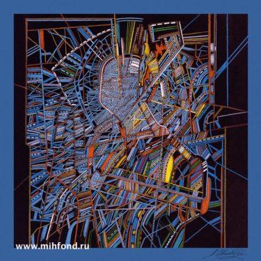 Платок Chemiakine 04 Из серии Метафизические бюсты