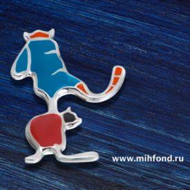 """Кулон-подвес """"Коты-акробаты"""" М.Шемякин"""