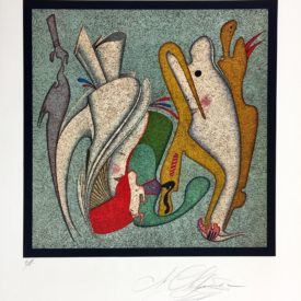 Литография М.Шемякин Метафизическая композиция